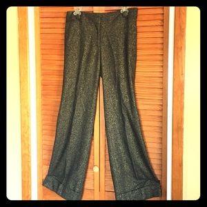 J. Crew collection cuffed metallic trousers